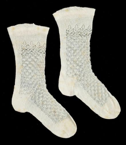 Antique Finely Knitted Baby Socks Queen Victoria Prince Leopold Duke of Albany